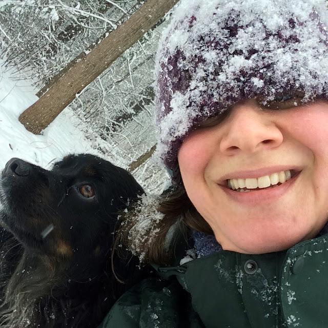 Winter, Snow, Dog Walking, Artist, Gardener, Lisa Estabrook, Artist Interview, My Giant Strawberry