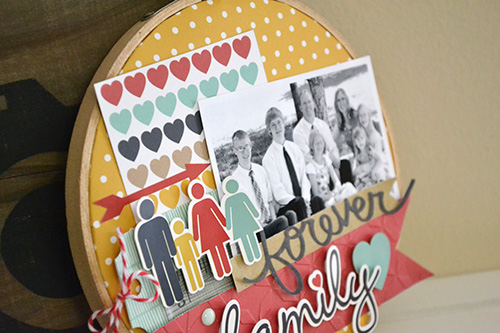 DIY photo frame embroidery hoop family altered home decor echo park paper