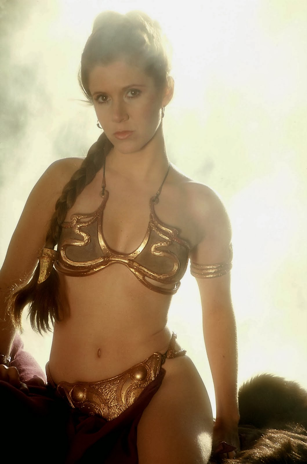 Think, carrie fisher princess leia slave are