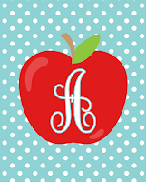 Free Teacher Monogram Printables | Letters A-Z Available | Instant Downloads | 8x10 Prints