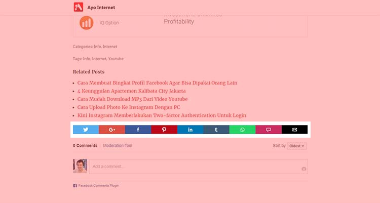 Responsive AMP Social Sharing Buttons For Wordpress AMP
