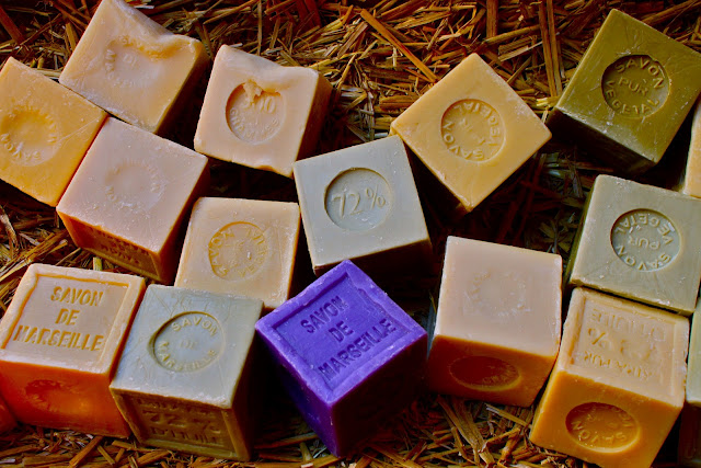 Savon de Marseille, olive oil and lavender soaps