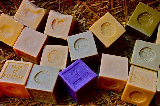 Savon de Marseille, olive oil and lavender soaps