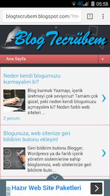 Blogumdaki reklam