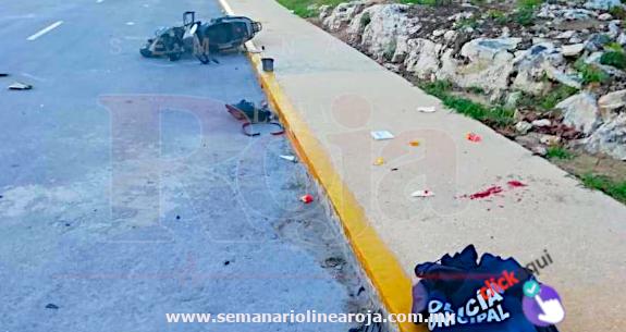 Arrollan a Policía de Playa del Carmen, cuando se dirigía al trabajo