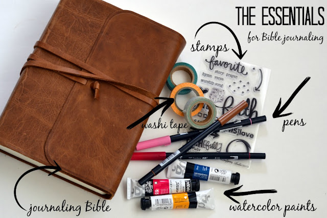 the essential items you need for Bible journaling