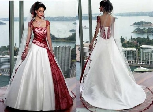 If You Like Wedding Dresses Burgundy Or Red White And Ivory Here Are Some Pictures Of
