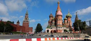 San Basilio y Kremlin de Moscú.