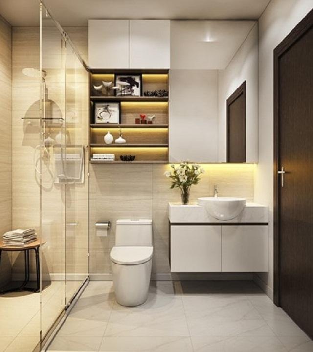 Mẫu phòng tắm đẹp với kính