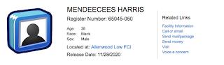 Mendeecees Harris Release Date