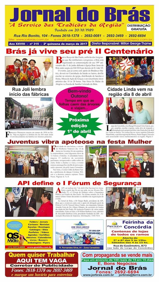 Destaques da Ed. 315 - Jornal do Brás