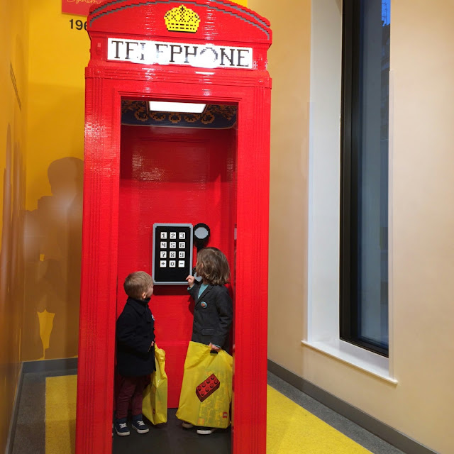 Lego shop London,  telephone box