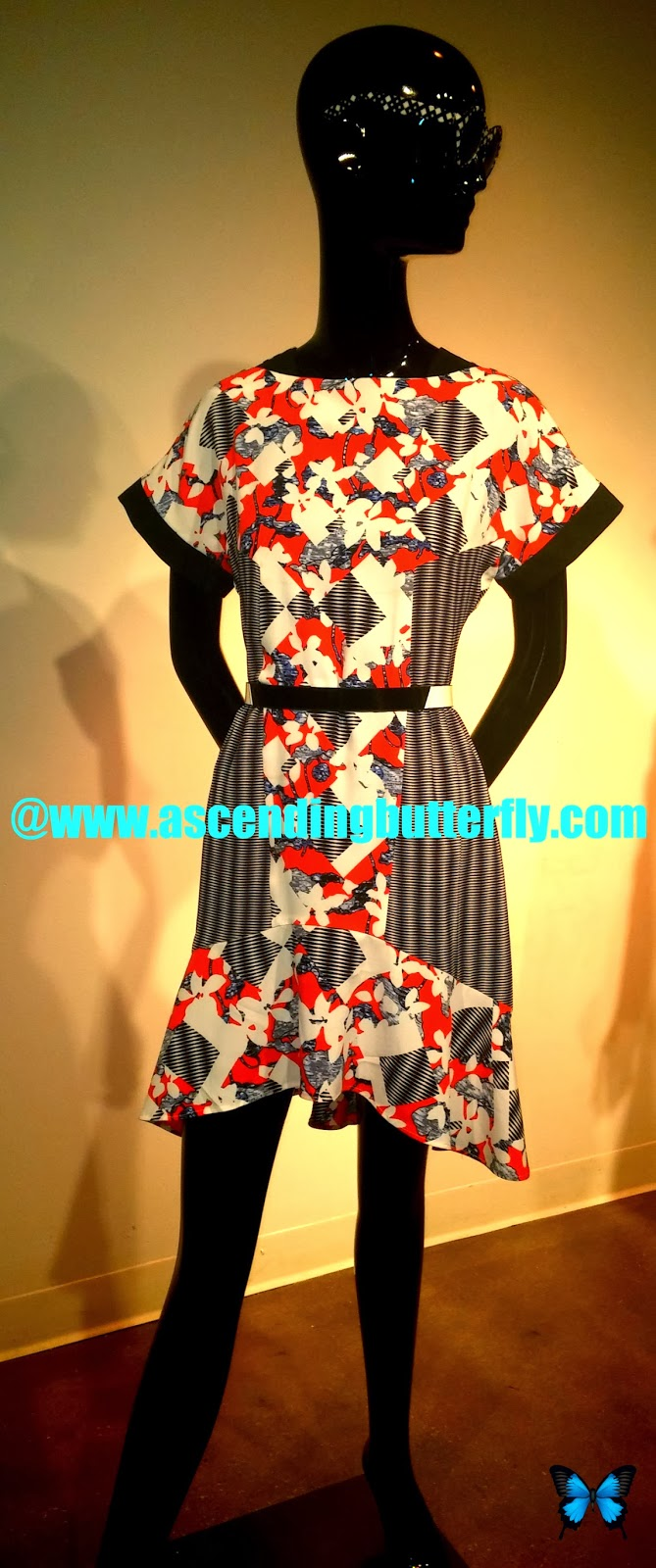 PETER PILOTTO for Target Belted Dress in Red Floral Print