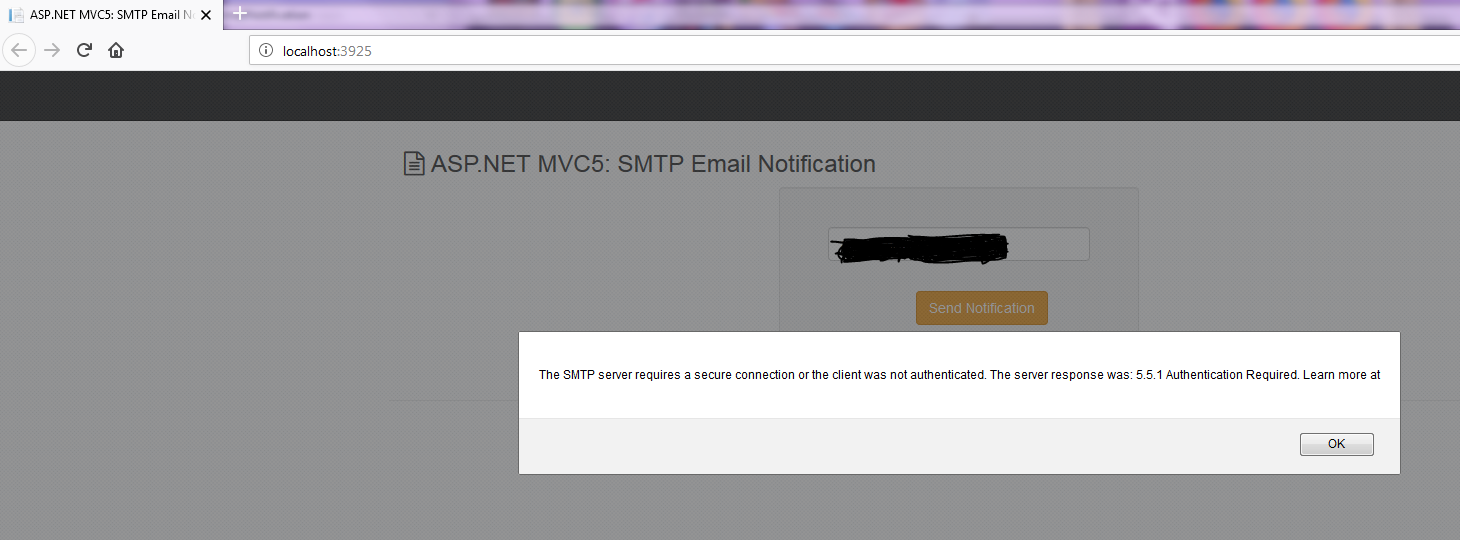 ASP NET MVC5: SMTP Email Notification - Asma's Blog