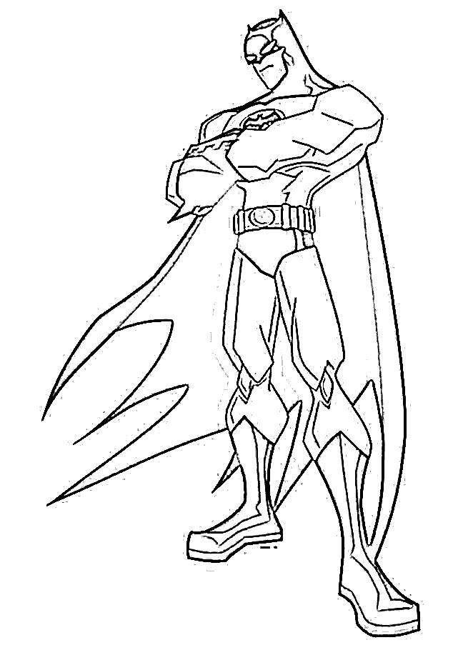 Batman Pictures Super Hero Coloring Pages