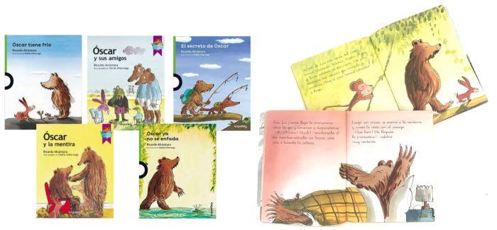cuentos libros infantiles en letra ligada Colección Óscar, Ricardo Alcántara