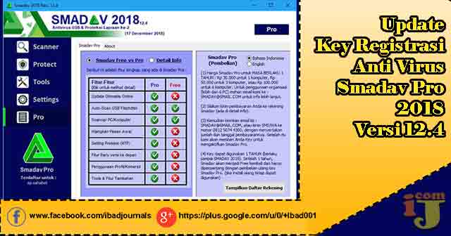 Setelah mengalami update anti virus smadav  Update Key Registrasi Anti Virus Smadav Pro 2018 Versi 12.4