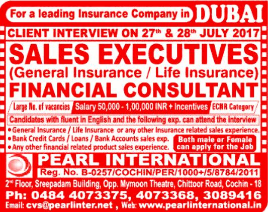Insurance / Financial Consultant Jobs in Dubai