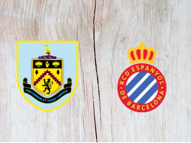 Watch Burnley vs Espanyol - Highlights - 05 August 2018