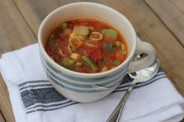 Homemade Vegetable Noodle Soup
