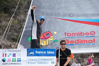 Thierry Chabagny et Erwan Tabarly, vainqueurs de La Transat AG2R 2016