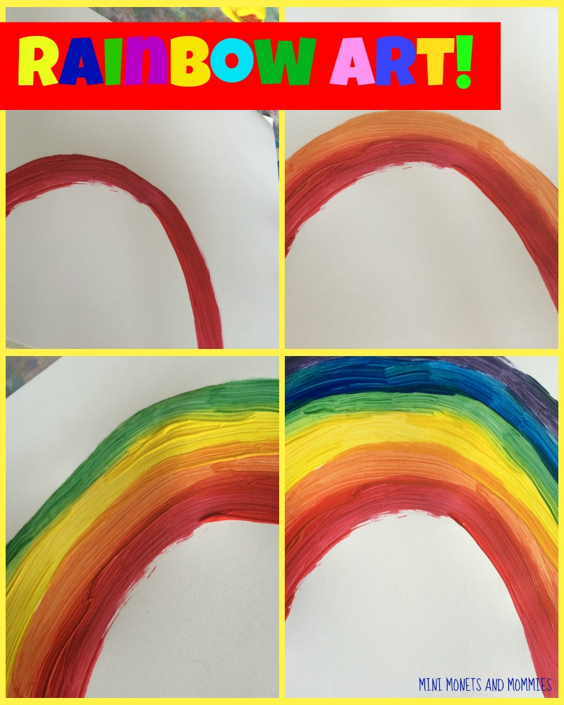 Mini Monets And Mommies: Rainbow Color-Mixing Art Activity