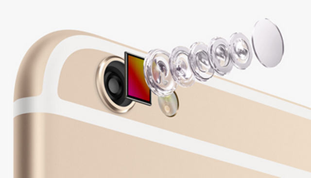 iPhone 6s and iPhone 6s Plus receive a 12-megapixel camera with a five-element lens