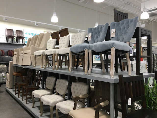 Huge dining chair section in Homesense