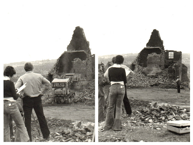 Bluebell Works, Barker Street, Longton Demolition July 1975 photo: Pam Bott, now a Woolliscroft 03