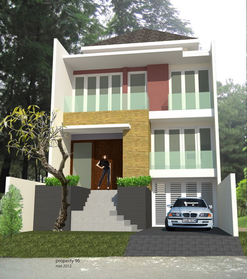 gambar model rumah minimalis 2 lantai dengan lantai dasar naik