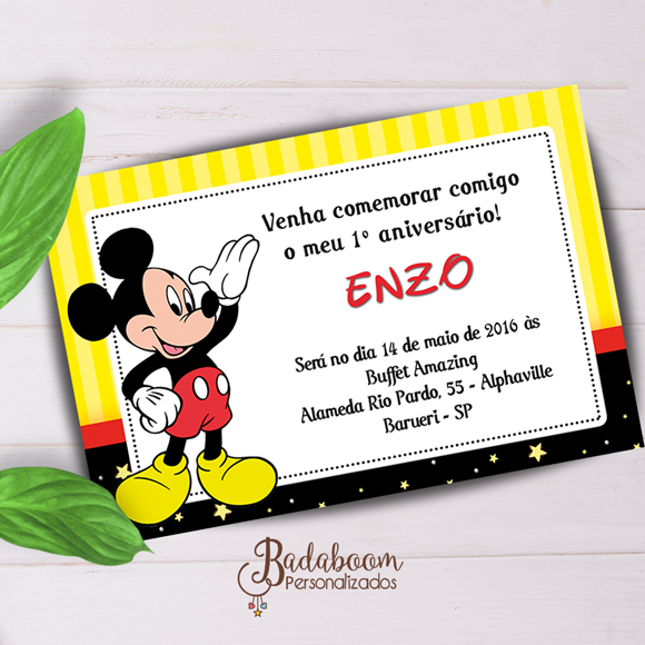Mickey, convite, arte, digital, para imprimir, festa, infantil