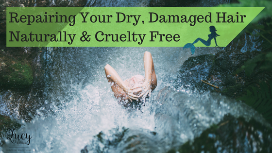 7 Easy, Foolproof Tips For Repairing Your Dry, Damaged Hair Naturally & Cruelty Free blog title