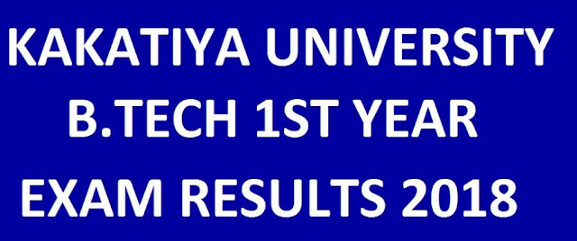 Kakatiya University B.Tech 1st Year Results