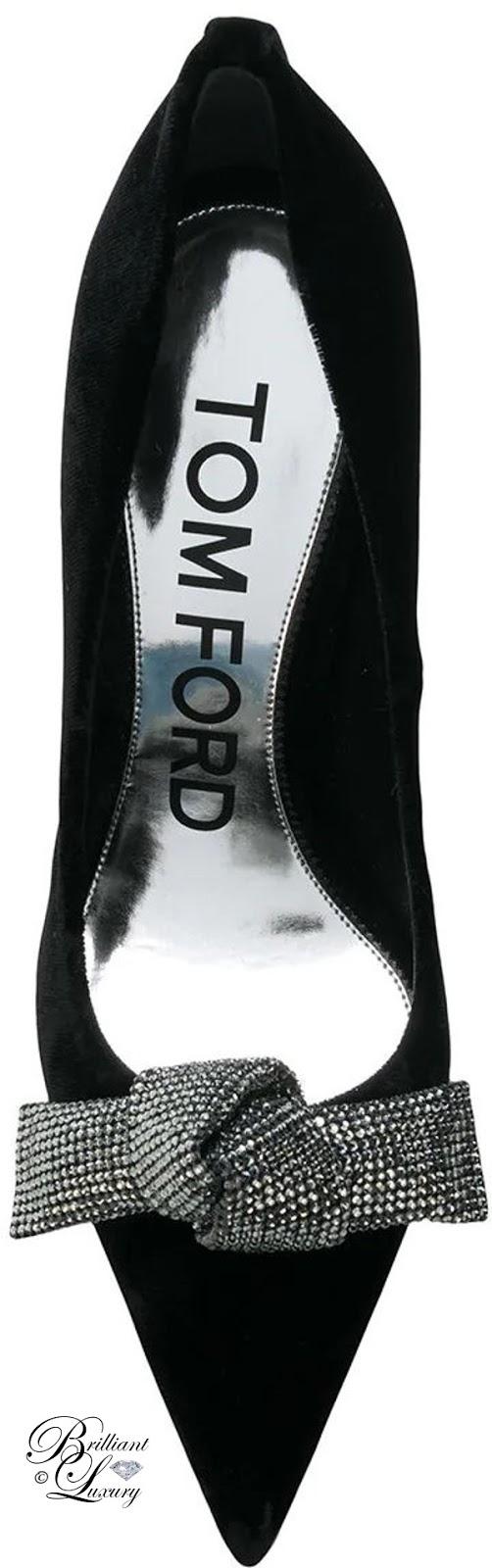 Brilliant Luxury ♦ Tom Ford embellished bow detail pumps #black