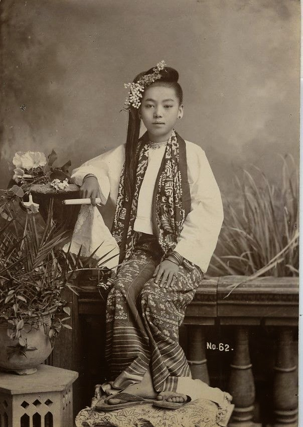 Lady Holding a Cigar - Burma (Myanmar), c1900's