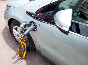 Chevrolet Volt Recharging - Source: General Services Administration