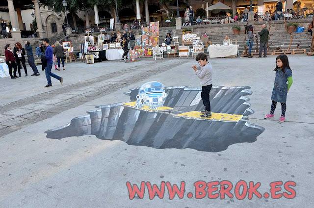 Dibujos 3d en el suelo Barcelona