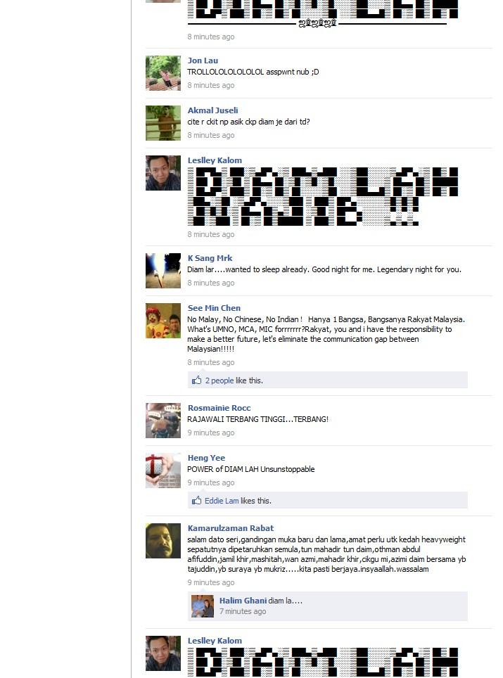 www AnythingIWannaWrite com: Najib Razak Facebook Page Being