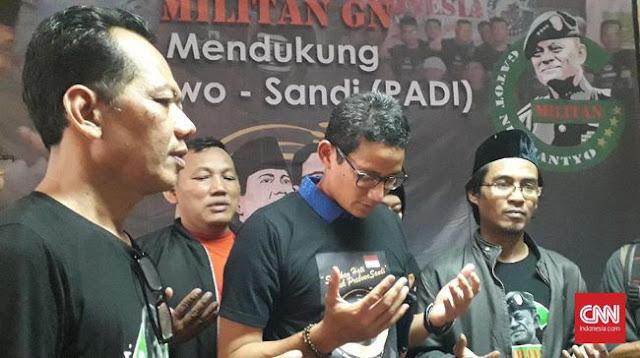 Sandiaga Janjikan Gatot Nurmantyo Posisi Jika Ikut Timses