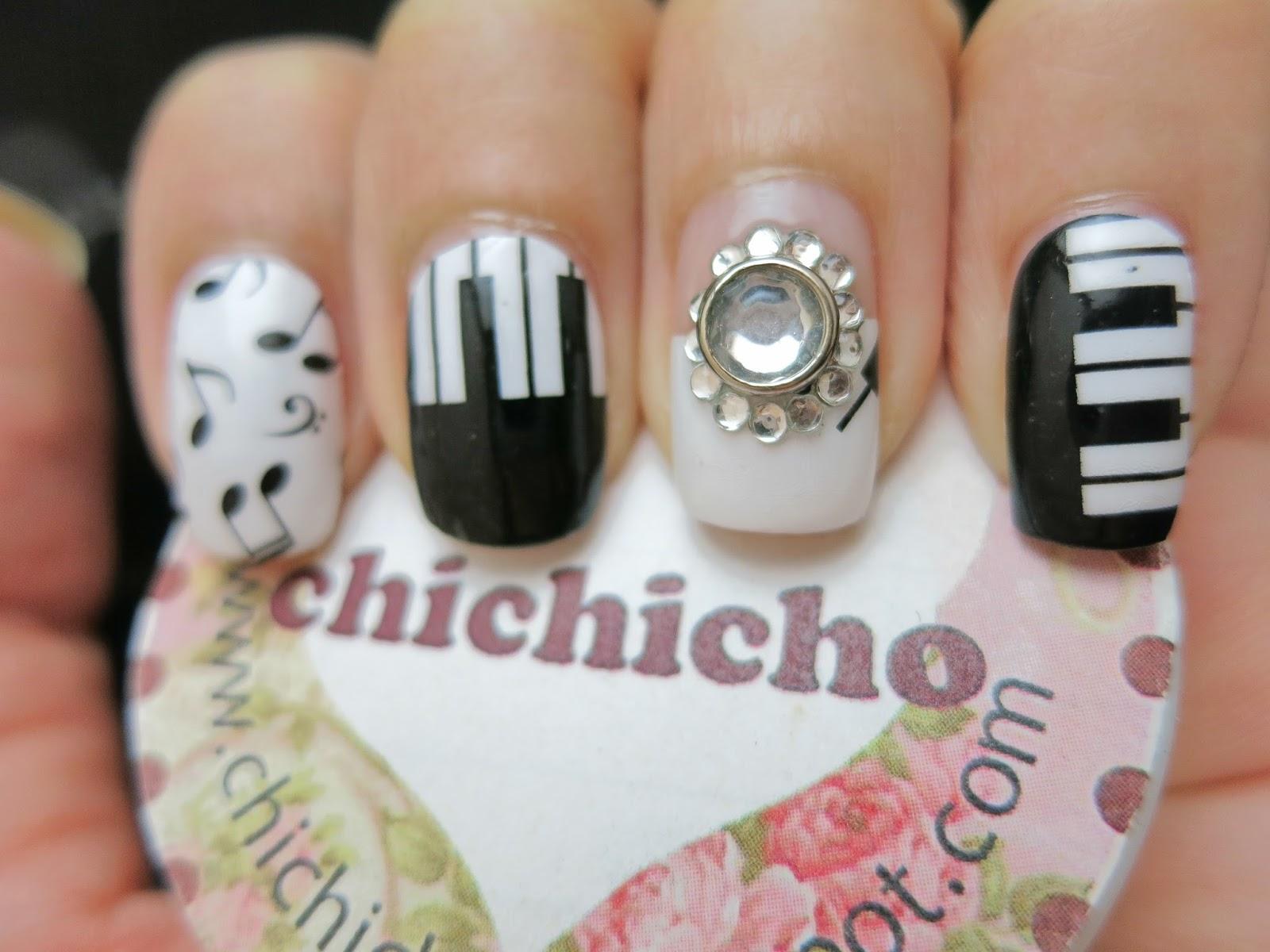 Piano and Music Nail Art Nail Wrap S1257 - chichicho~