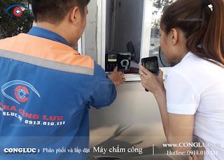 Lắp máy chấm công giá rẻ tại Phường An Dương Quận Lê Chân