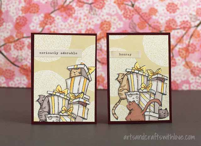 Birthday cards with cute cats