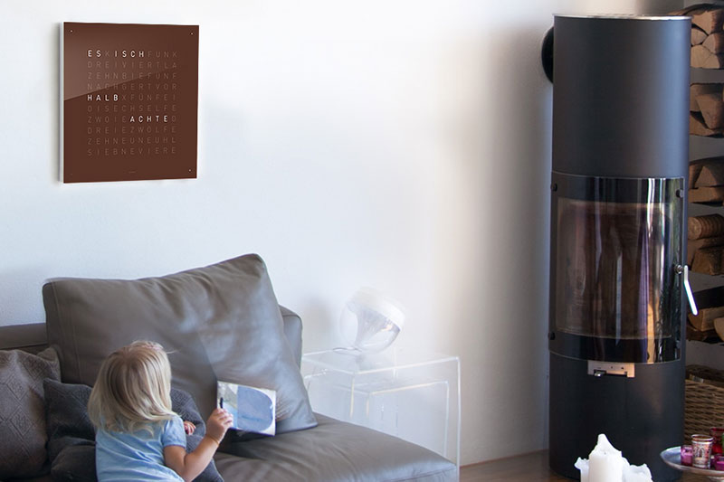 qlocktwo wall clock by biegert and funk. Black Bedroom Furniture Sets. Home Design Ideas