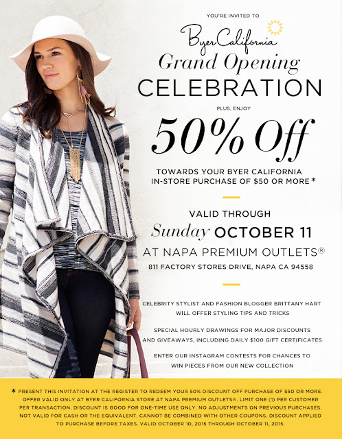BYER California Napa Grand Opening Coupon