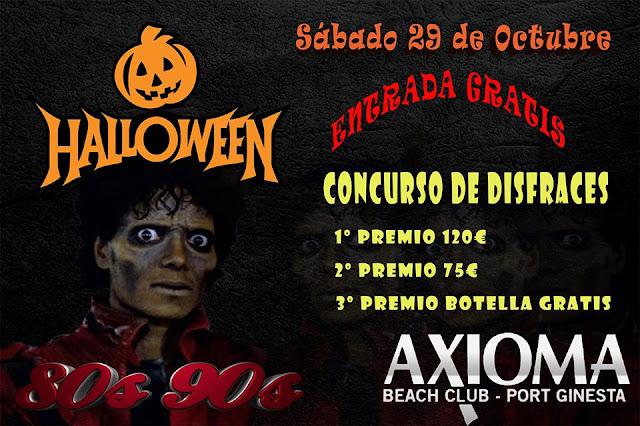 Flyer Fiesta Halloween 80s & 90s
