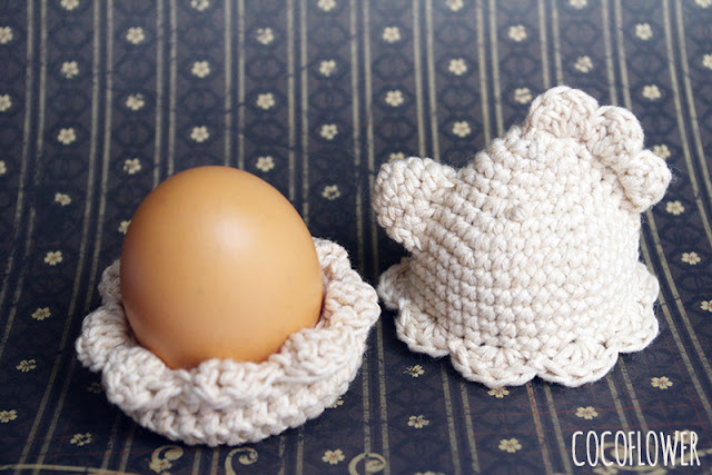 Easter DIY - Crochet Chicken - EggCup and Egg cover - by CocoFlower