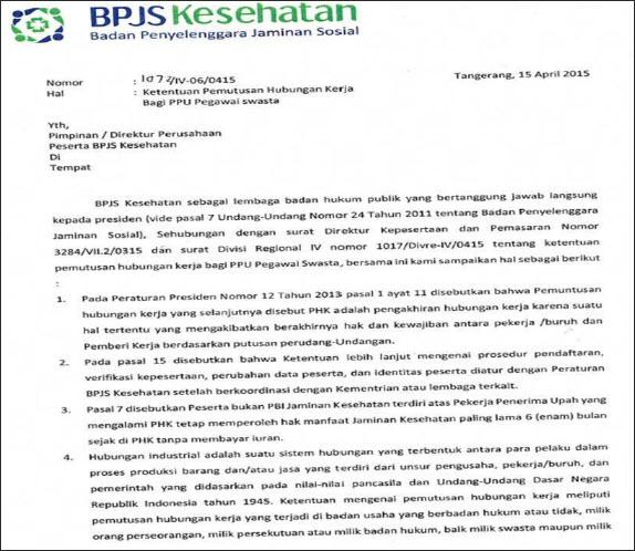 Status Bpjs Kesehatan Untuk Karyawan Keluar Resign Atau Phk