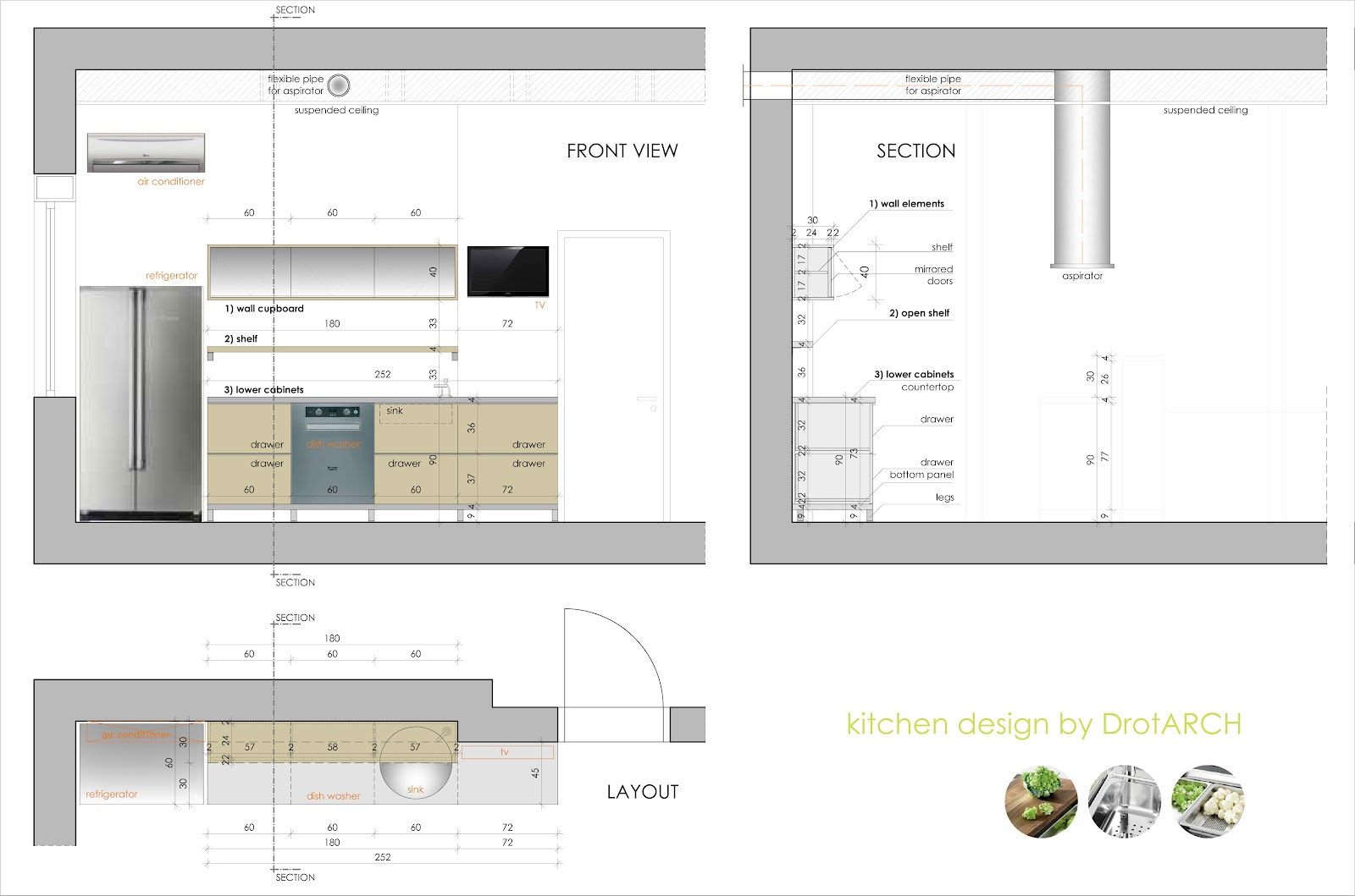 Kitchen design drawings one of the best home design for Kitchen design details