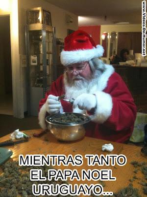 Papa Noel Uruguayo regala marihuana