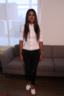 Nia Sharma at an itnerview for For Web Series Twisted 04.JPG
